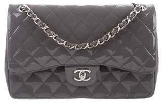 Chanel 2017 Patent Classic Jumbo Double Flap Bag w/ Tags Grey 2017 Patent Classic Jumbo Double Flap Bag w/ Tags