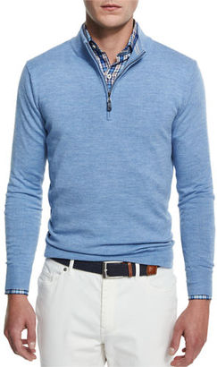 Peter Millar Merino Wool Quarter-Zip Sweater $198 thestylecure.com