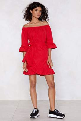 Nasty Gal Top Down Wrap Dress