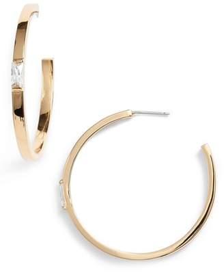 Vince Camuto Step-Cut Crystal Hoop Earrings