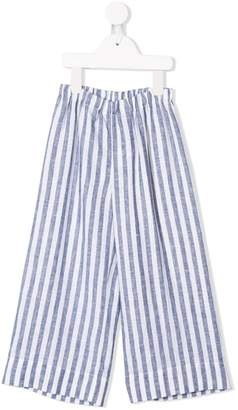 Il Gufo striped flared trousers