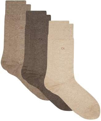 Calvin Klein Flat Knit Socks (Pack of 3)
