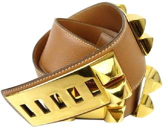 Hermes Vintage Collier de chien Gold Leather Belts