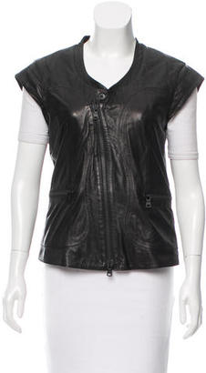 Diesel Fitted Leather Vest $175 thestylecure.com