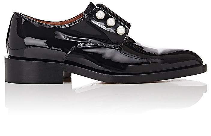 Givenchy Women's Pearl-Embellished Patent Leather Loafers