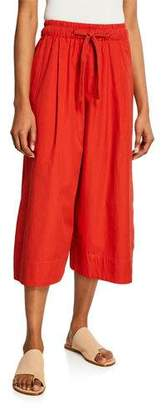 Vince Cropped Drawstring Cotton Culottes