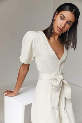 C/Meo Collective Essentials Plunging Puff Sleeve Jumpsuit