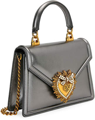 Devotion Mini Metallic Leather Top-Handle Bag