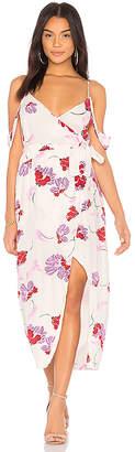 Bardot Floral Wrap Dress