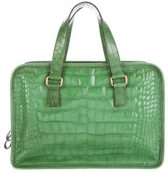 prada Prada Alligator Handle Bag
