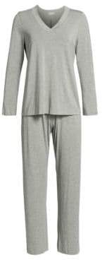 Hanro Champagne Long-Sleeve Pajamas