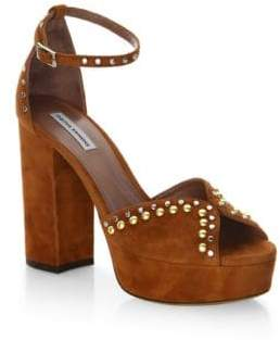 Tabitha Simmons Julieta Studs Suede Ankle-Strap Sandals