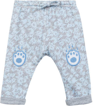 Kenzo Animal-Print Fleece Pants w/ Logo Embroideries, Size 2-3