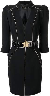 Elisabetta Franchi star belt paneled dress