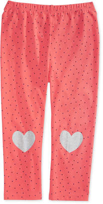 First Impressions Toddler Girls Dot-Print Heart Leggings