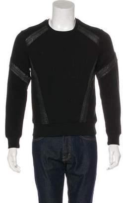 Belstaff Leather-Trimmed Sweatshirt