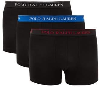 Polo Ralph Lauren Pack Of Three Logo Cotton Blend Boxer Briefs - Mens - Multi