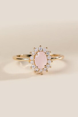 francesca's Sabira Pale Pink Crystal Ring - Pale Pink