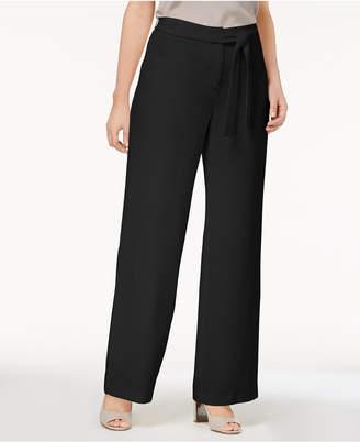 Alfani Tie-Front Wide-Leg Pants, Created for Macy's
