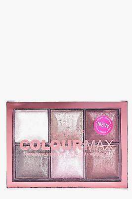 boohoo NEW Womens Technic 6 Shade Baked Eyeshadow Palette in Nude size One Size