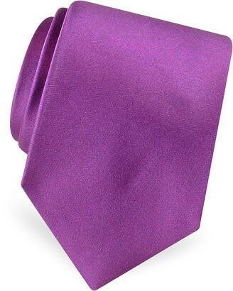 Forzieri Solid Pure Silk Satin Silk Tie