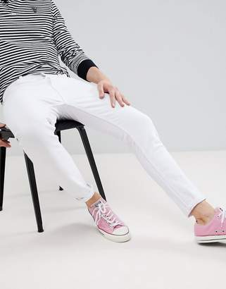 Pull&Bear Carrot Fit Jeans In White