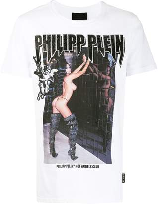 Philipp Plein Angel studded logo T-shirt