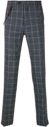 Berwich plaid rope chain trousers