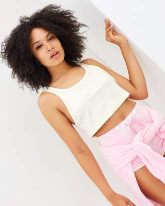 Jaquard Terry Cropped Tank Top