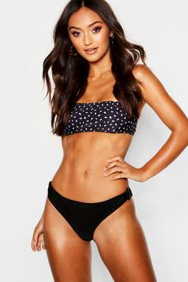 boohoo Petite Mix & Match Spot Print Bandeau Top