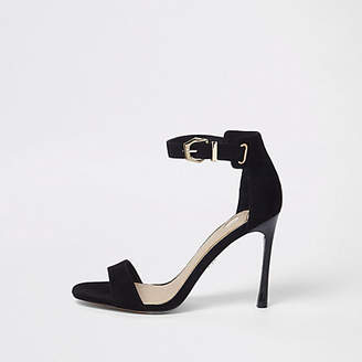 River Island Black barely there sandals
