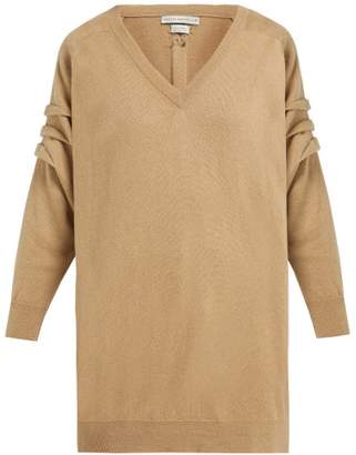 Queene and Belle V Neck Cashmere Sweater - Womens - Camel