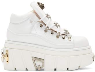 Gucci White Koire Platform Boots