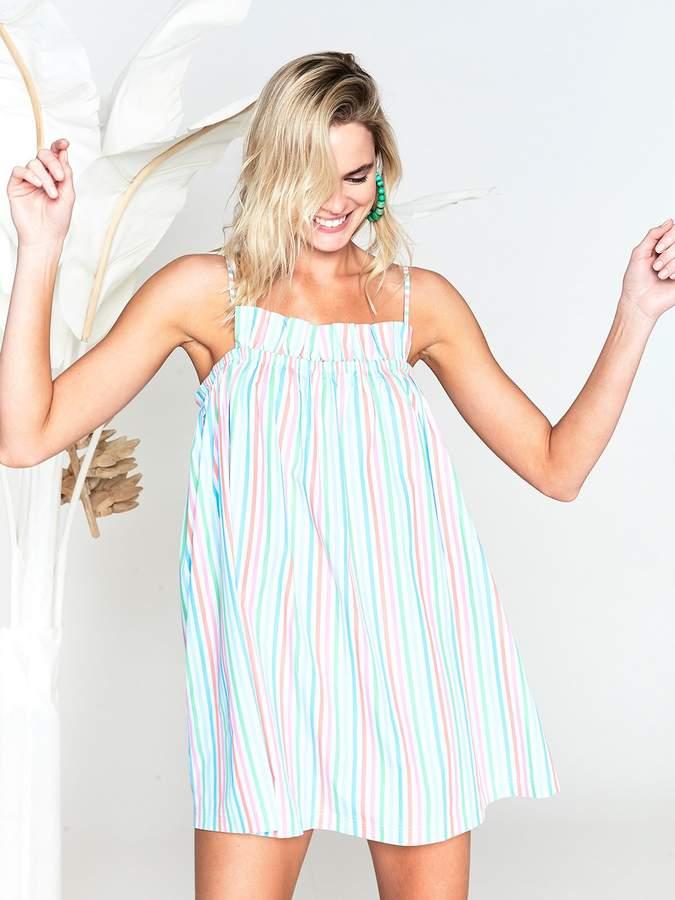 LAKE Pajamas Island Ruffle Dress