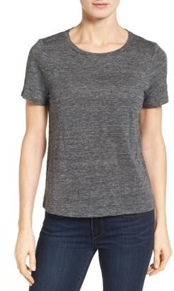 Women's Eileen Fisher Organic Linen Knit Tee $108 thestylecure.com