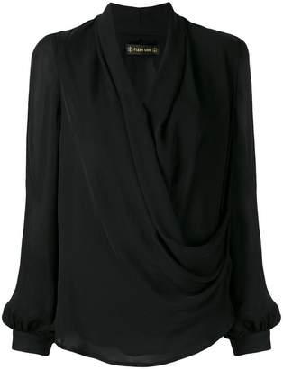 0ee39f6eec7813 Black Silk Wrap Top - ShopStyle Australia