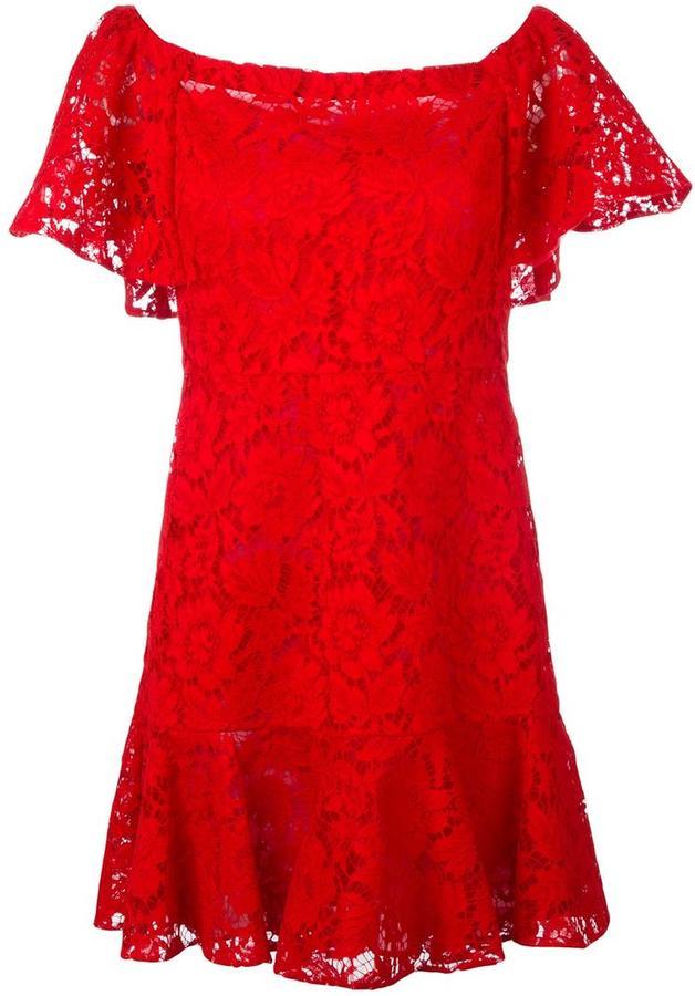 ValentinoValentino guipure lace mini dress