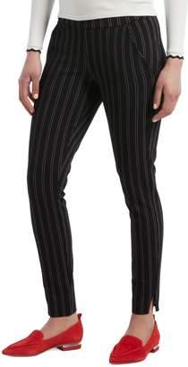 Hue Pinstriped Velvet Leggings