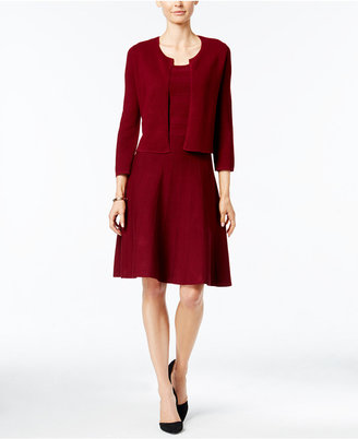 Charter Club Fit & Flare Sweater Dress with Bolero Jacket, Only at Macy's $129.50 thestylecure.com