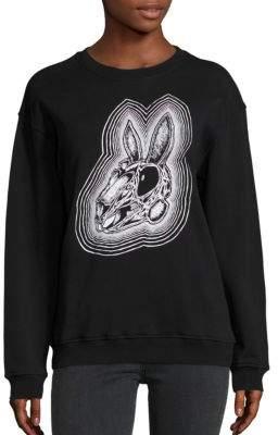 McQ Rabbit Skull Print Sweatshirt