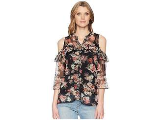 Scully Lucinda Floral Cold Shoulder Top w/ Tank