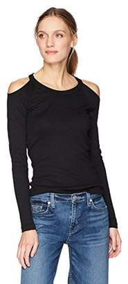 Michael Stars Women's Shine Long Sleeve Crew Neck with Cold Shoulder