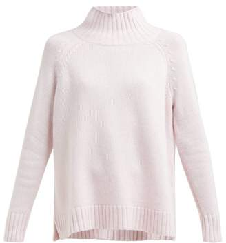 Allude High Neck Cashmere Sweater - Womens - Light Pink
