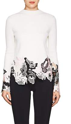 3.1 Phillip Lim Women's Lace-Trimmed Wool-Blend Sweater