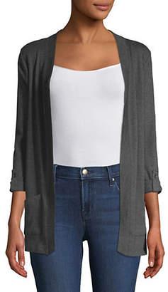 Karen Scott Petite Open-Front Cotton Cardigan