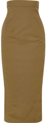 Rick Owens Cotton-blend Midi Skirt - Army green