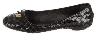 Tory Burch Patent Leather Round-Toe Flats