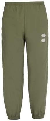 Off-White Off White Logo Technical Track Pants - Mens - Green