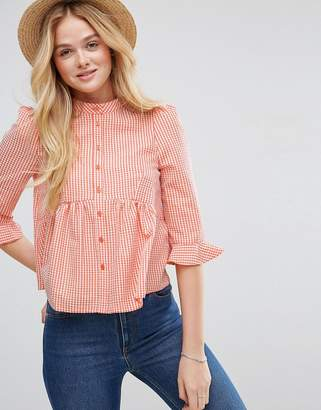 Asos Gingham Shirt With Pephem