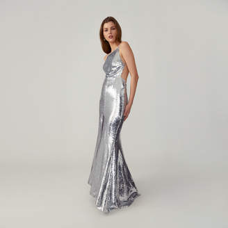 Fame & Partners Plunging Back Gown